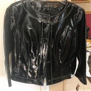 Jones of New York Collection Leather Blazer/Jacket